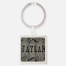 Jaylan, Western Themed Square Keychain