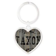 Jaxon, Western Themed Heart Keychain