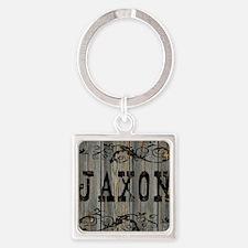 Jaxon, Western Themed Square Keychain