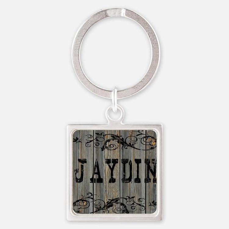 Jaydin, Western Themed Square Keychain