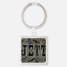Jett, Western Themed Square Keychain
