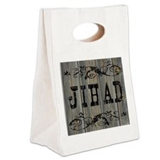 Jihad, Western Themed Canvas Lunch Tote