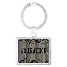 Johnathon, Western Themed Landscape Keychain