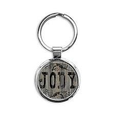 Jody, Western Themed Round Keychain