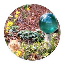 mouse-gardenstilllife Round Car Magnet
