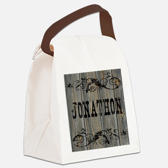 Jonathon, Western Themed Canvas Lunch Bag