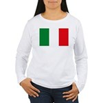 Italian Flag Women's Long Sleeve T-Shirt