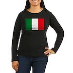 Italian Flag Women's Long Sleeve Dark T-Shirt