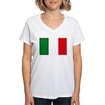 Italian Flag Women's V-Neck T-Shirt