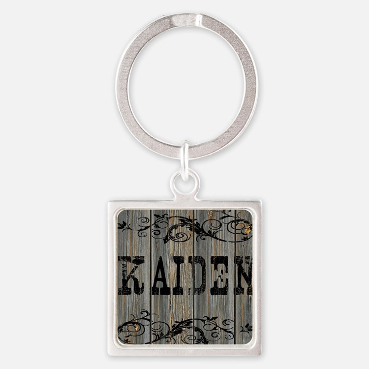 Kaiden, Western Themed Square Keychain