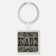 Kade, Western Themed Square Keychain