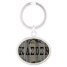 Kaeden, Western Themed Oval Keychain