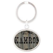 Kamron, Western Themed Oval Keychain