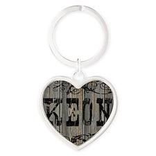 Keon, Western Themed Heart Keychain