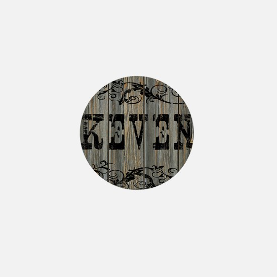Keven, Western Themed Mini Button