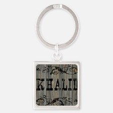 Khalid, Western Themed Square Keychain