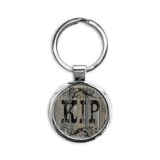 Kip, Western Themed Round Keychain