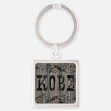 Kobe, Western Themed Square Keychain