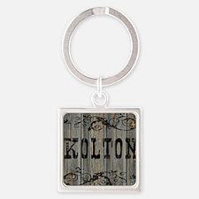Kolton, Western Themed Square Keychain