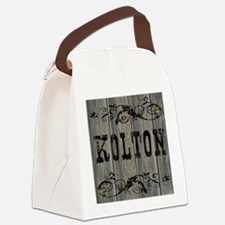Kolton, Western Themed Canvas Lunch Bag