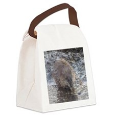 Muskrat Canvas Lunch Bag