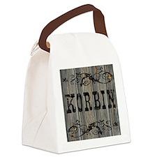 Korbin, Western Themed Canvas Lunch Bag