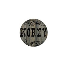 Korey, Western Themed Mini Button