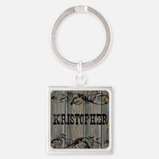 Kristopher, Western Themed Square Keychain