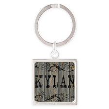 Kylan, Western Themed Square Keychain