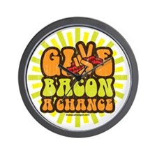 Give Bacon A Chance Wall Clock
