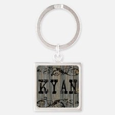 Kyan, Western Themed Square Keychain