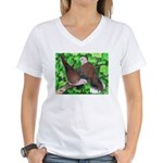 Ringneck Doves Women's V-Neck T-Shirt