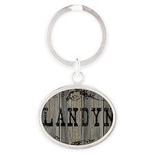 Landyn, Western Themed Oval Keychain