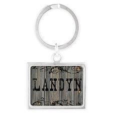 Landyn, Western Themed Landscape Keychain