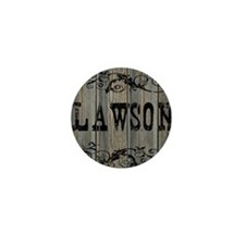 Lawson, Western Themed Mini Button