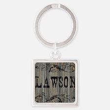 Lawson, Western Themed Square Keychain