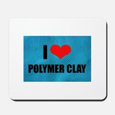 I Love Heart Polymer Clay Mousepad