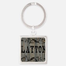 Layton, Western Themed Square Keychain