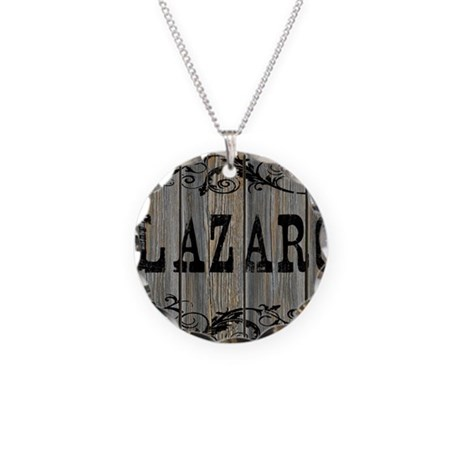 Lazaro, Western Themed Necklace Circle Charm