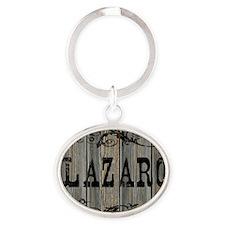 Lazaro, Western Themed Oval Keychain