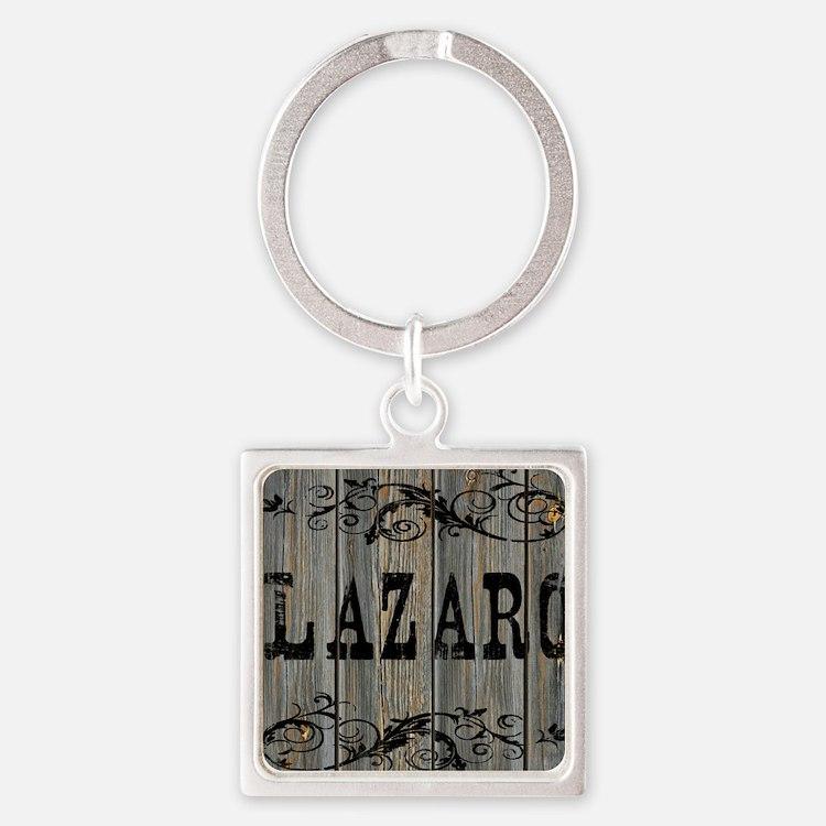 Lazaro, Western Themed Square Keychain