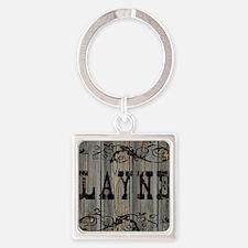 Layne, Western Themed Square Keychain