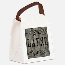 Layne, Western Themed Canvas Lunch Bag