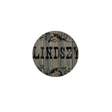 Lindsey, Western Themed Mini Button