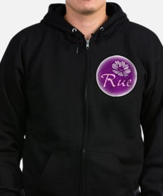 Remember Rue Purple Zip Hoodie