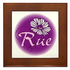 Remember Rue Purple Framed Tile