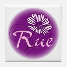 Remember Rue Purple Tile Coaster