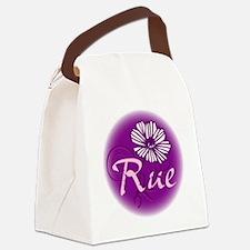 Remember Rue Purple Canvas Lunch Bag