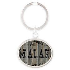 Malaki, Western Themed Oval Keychain