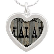 Malaki, Western Themed Silver Heart Necklace